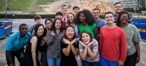 Students pose for a photo during a Mercer On Mission trip to South Korea in 2018.