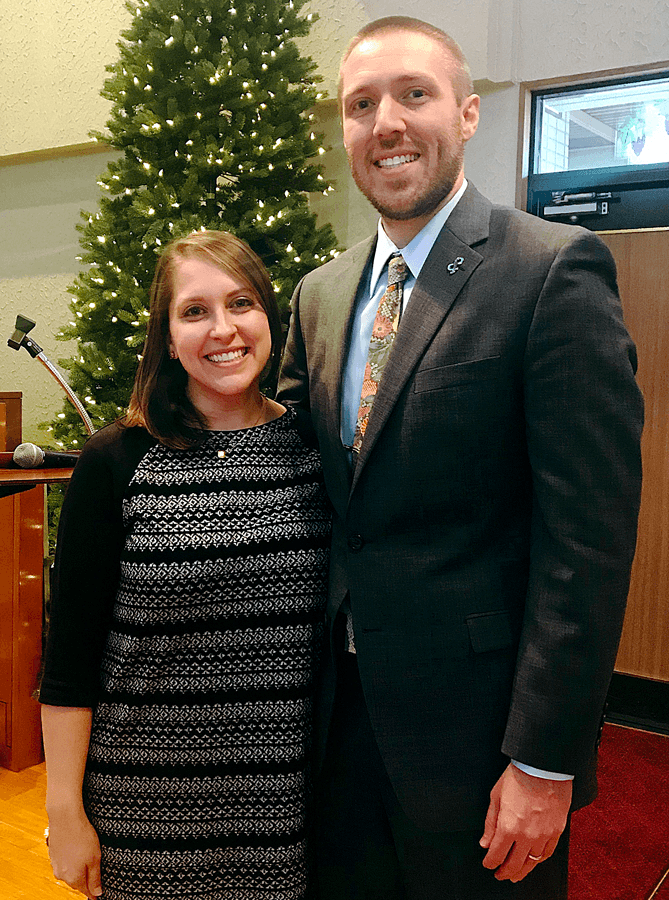Laura and Carson Foushee will preach the sermon for the Christmas service.