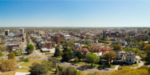 Aerial view of Downtown Macon