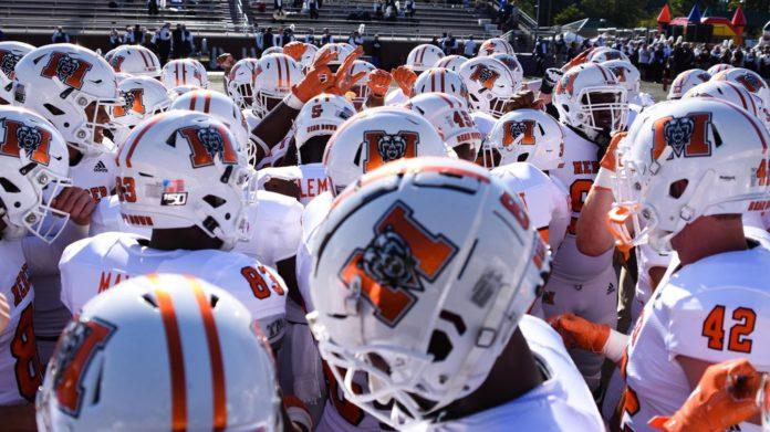Mercer football helmets