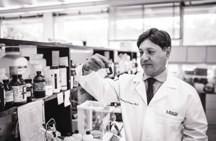Pharmaceuitcal researcher Martin D'Souza in his lab